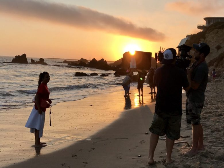 Private Lifeguard Services in Newport Beach and Laguna Beach filming a commercial on the beach