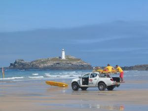 lifeguard rescue with truck